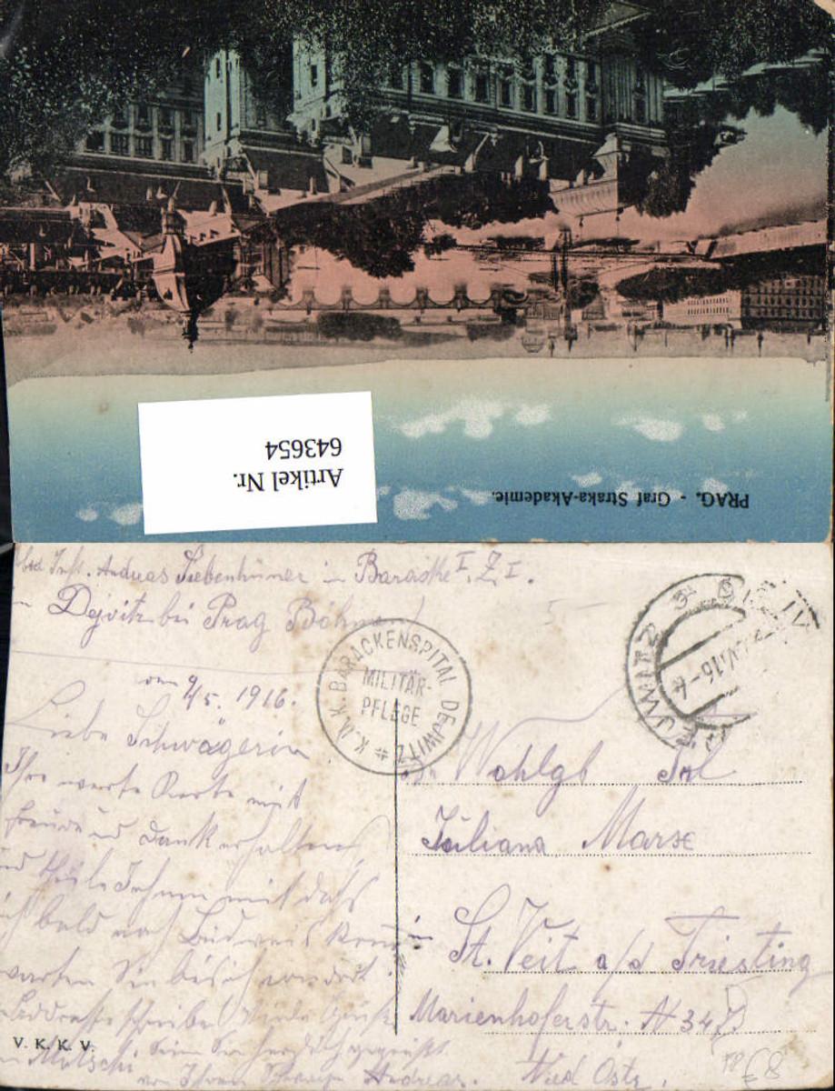 643654,K.K. Feldpost Barackenspital Dejwitz n. St. Veit an der Triesting 1916 günstig online kaufen
