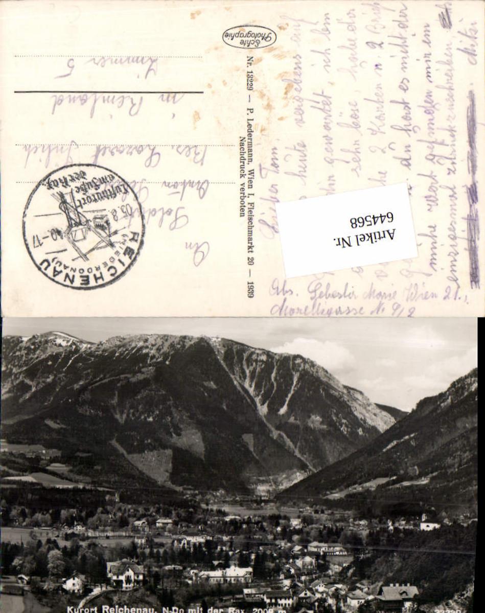 644568,Reichenau an der Rax Feldpost ins Lazarett Jülich Rheinland günstig online kaufen