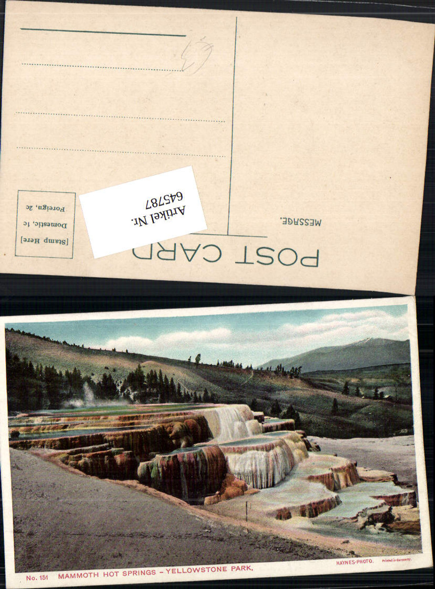 645787,Yellowstone Park Mammoth Hot Springs pub Haynes Photo 151 günstig online kaufen