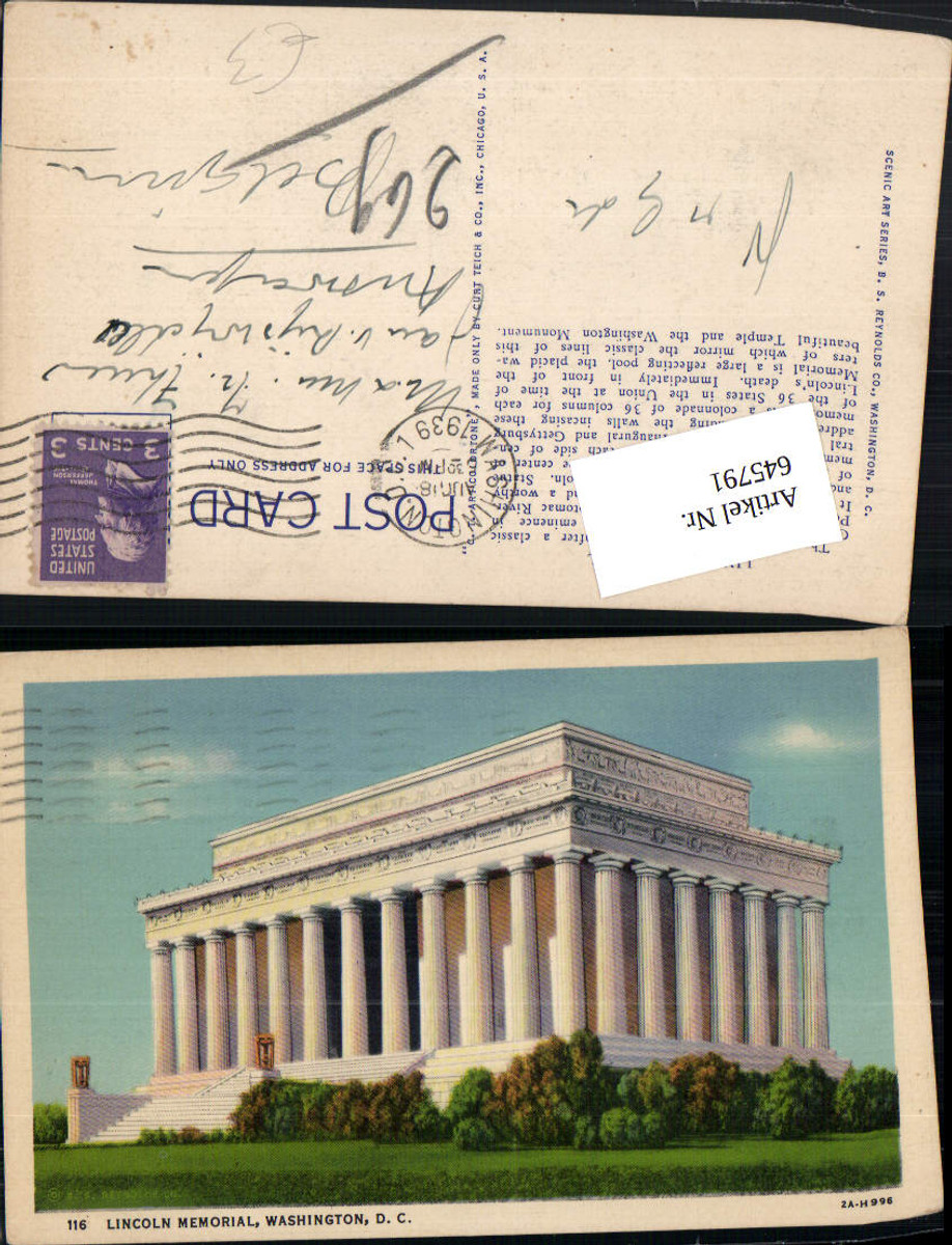 645791,Washington D. C. Lincoln Memorial günstig online kaufen