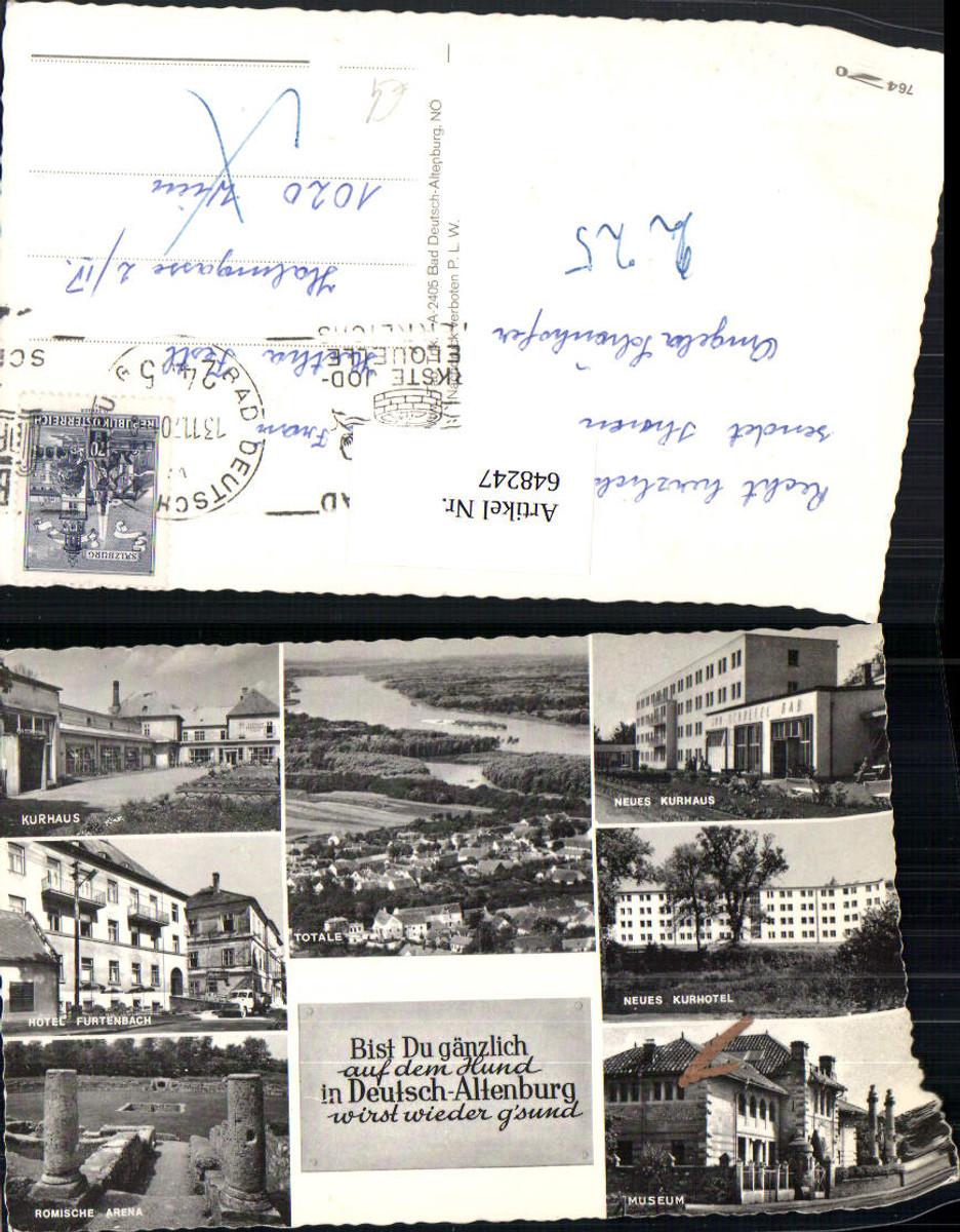 648247,Mehrbild Ak Bad Deutsch-Altenburg Kurhaus Museum Römische Arena günstig online kaufen
