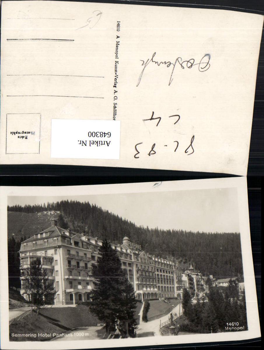 648300,Foto Ak Semmering Hotel Panhans günstig online kaufen