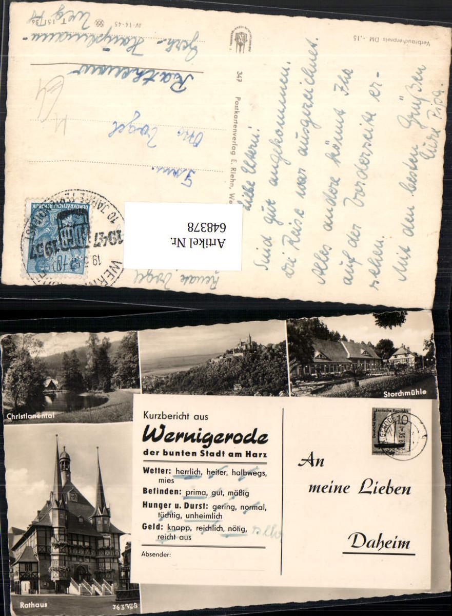 648378,Schreibfaulheit Schreibfaul Kurzbericht Wernigerode Harz Postwesen günstig online kaufen