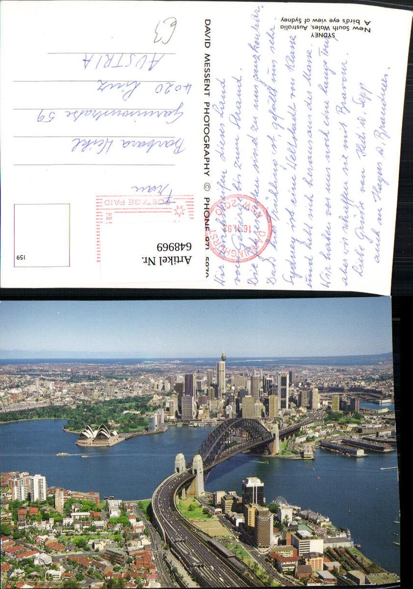 648969,Sydney New South Wales Australia Australien A birds eye view of Sydney günstig online kaufen
