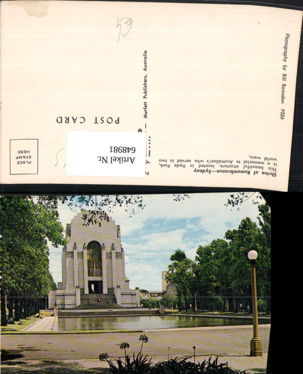 648981,Shrine of Remembrance Sydney Tempel Australien Australia günstig online kaufen