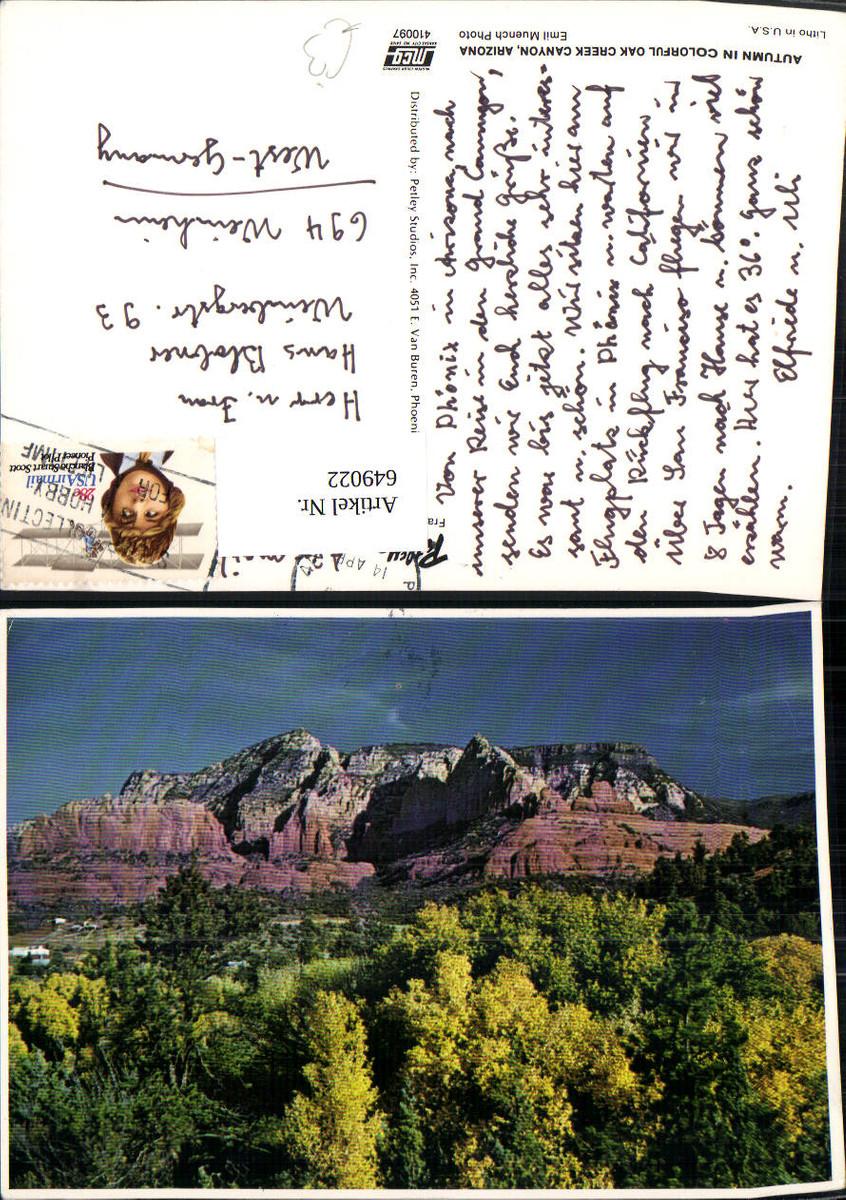 649022,Autumn in Colorful Oak Creek Canyon Arizona USA günstig online kaufen