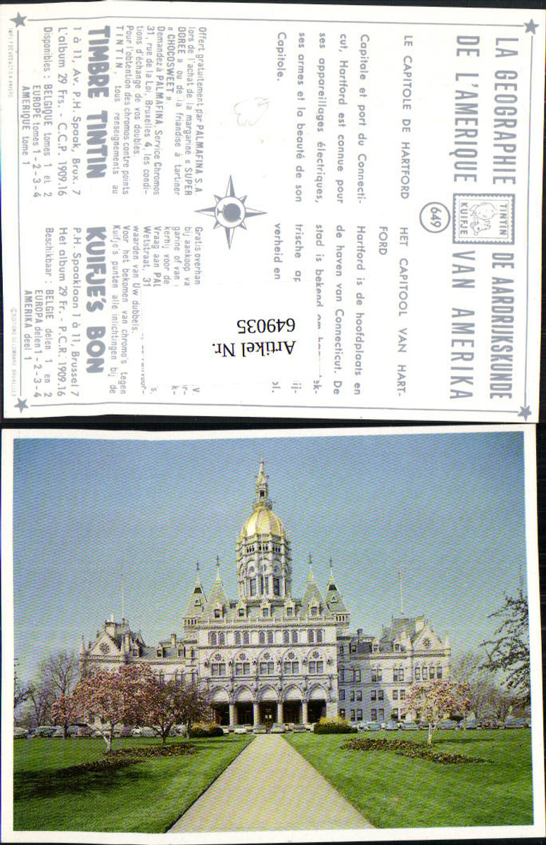 649035,Hartford Capitol Connecticut Tintin Kuifje 649 USA günstig online kaufen
