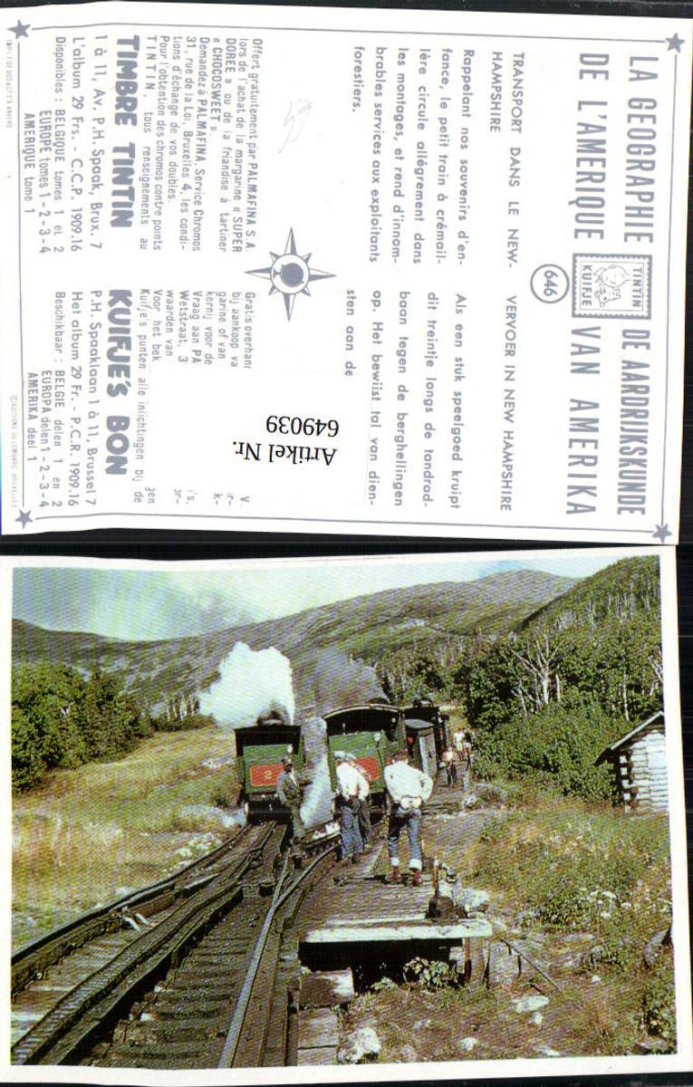649039,New Hampshire Transport Eisenbahn Dampflok Tintin Kuifje 646 USA günstig online kaufen