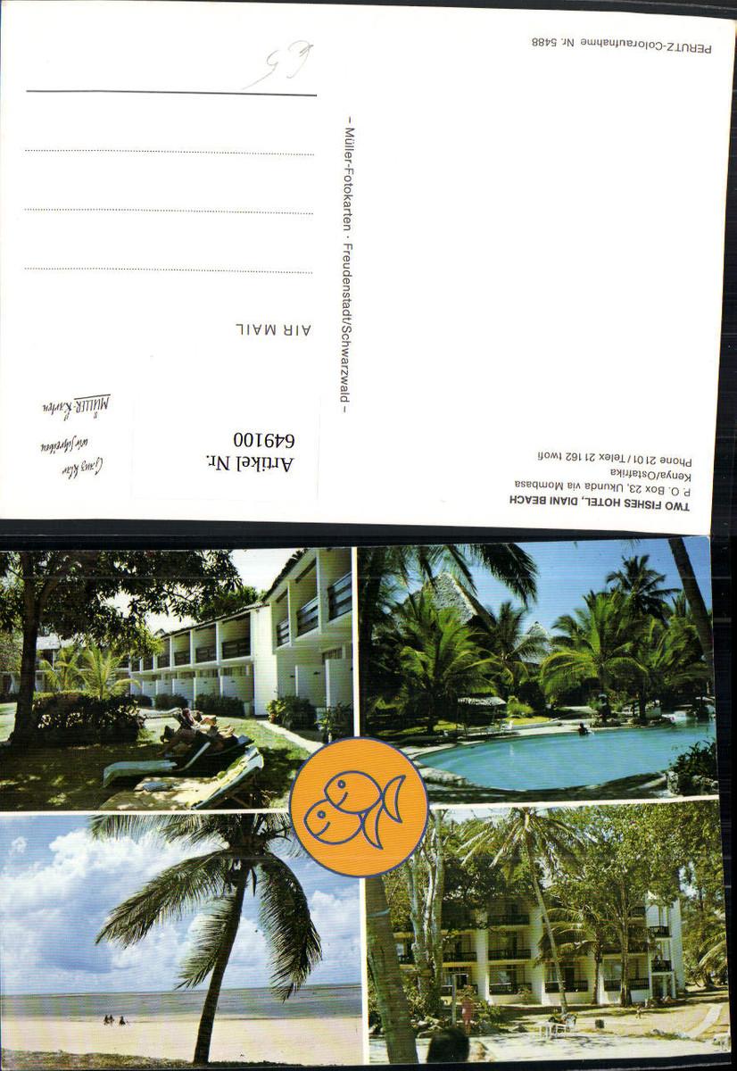649100,Mehrbild Ak Two Fishes Hotel Diani Beach Ukunda via Mombasa Kenya Kenia günstig online kaufen