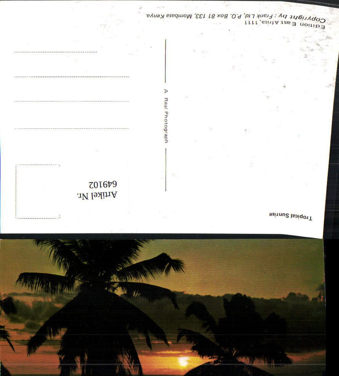 649102,Tropical Sunrise Mombasa Kenya Kenia Palmen Sonnenuntergang günstig online kaufen