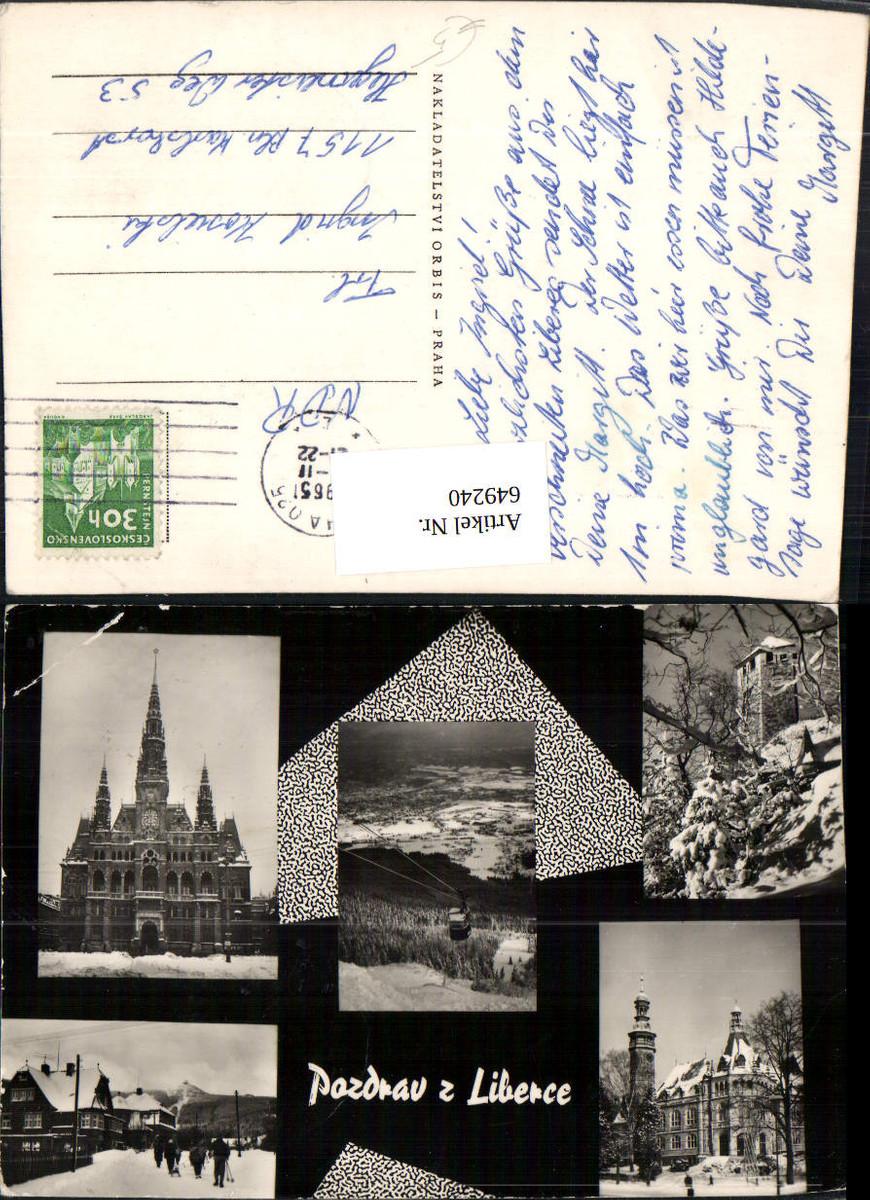 649240,Mehrbild Ak Pozdrav z Liberce Liberec Czech Republic günstig online kaufen