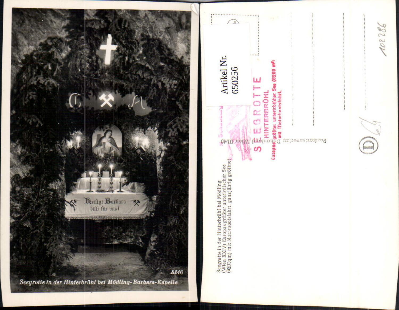 650256,Foto Ak Seegrotte Hinterbrühl b. Mödling Barbara-Kapelle günstig online kaufen