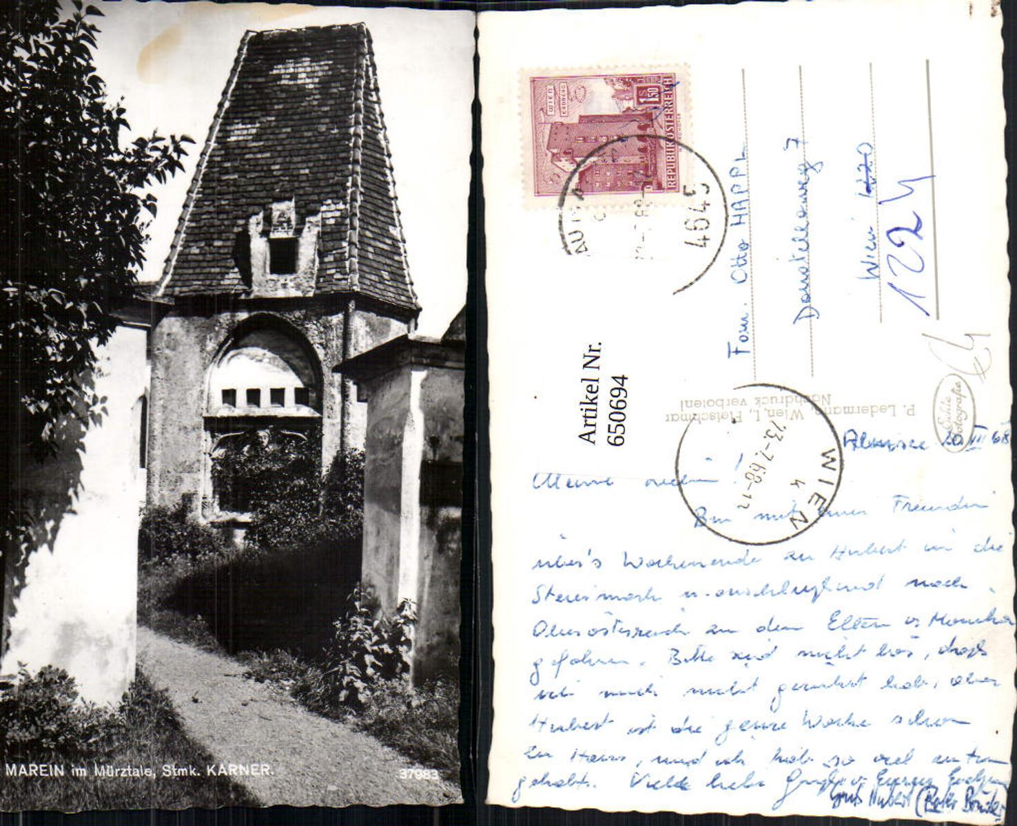650694,Foto Ak St Marein im Mürztale Karner günstig online kaufen