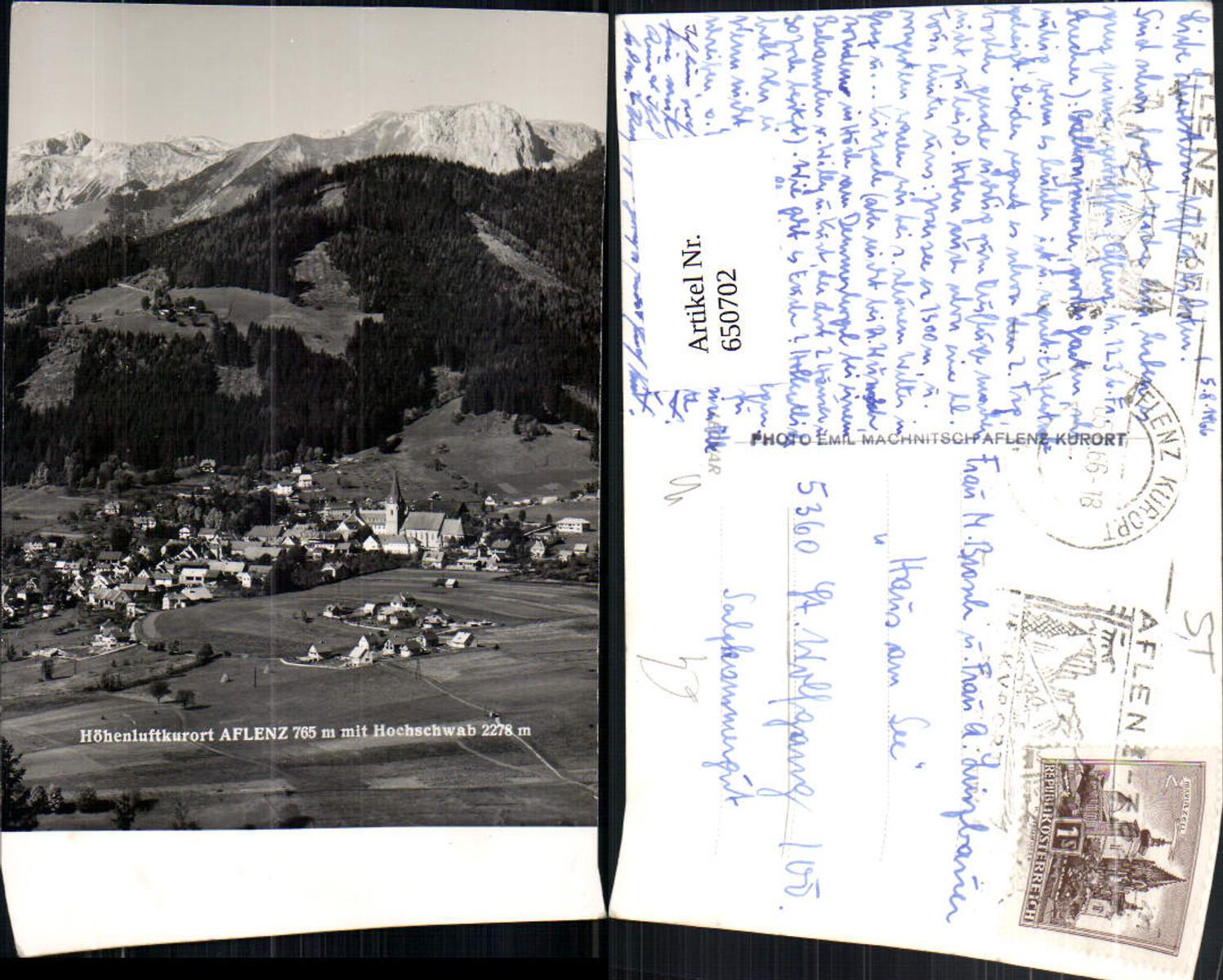 650702,Foto Ak Aflenz Kurort mit Hochschwab günstig online kaufen