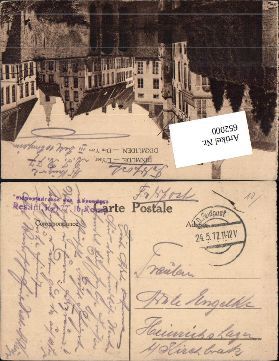 K. D. Feldpost Res. Infanterie Rgt. 77 Heinrichshagen Kirchbrak Dixmude Dixmuiden günstig online kaufen
