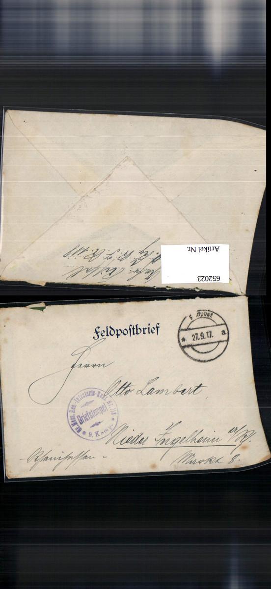 652023,K. D. Feldpost Gr. Hess. Infanterie Regt. 118 Nieder Ingelheim günstig online kaufen