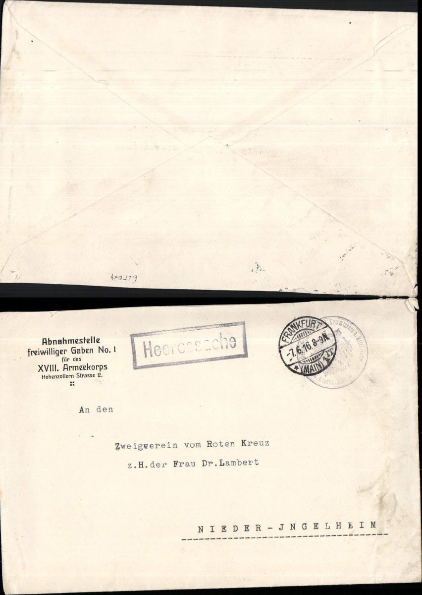 652024,K. D. Feldpost XVIII. Armeekorps Frankfurt n. Nieder Ingelheim günstig online kaufen