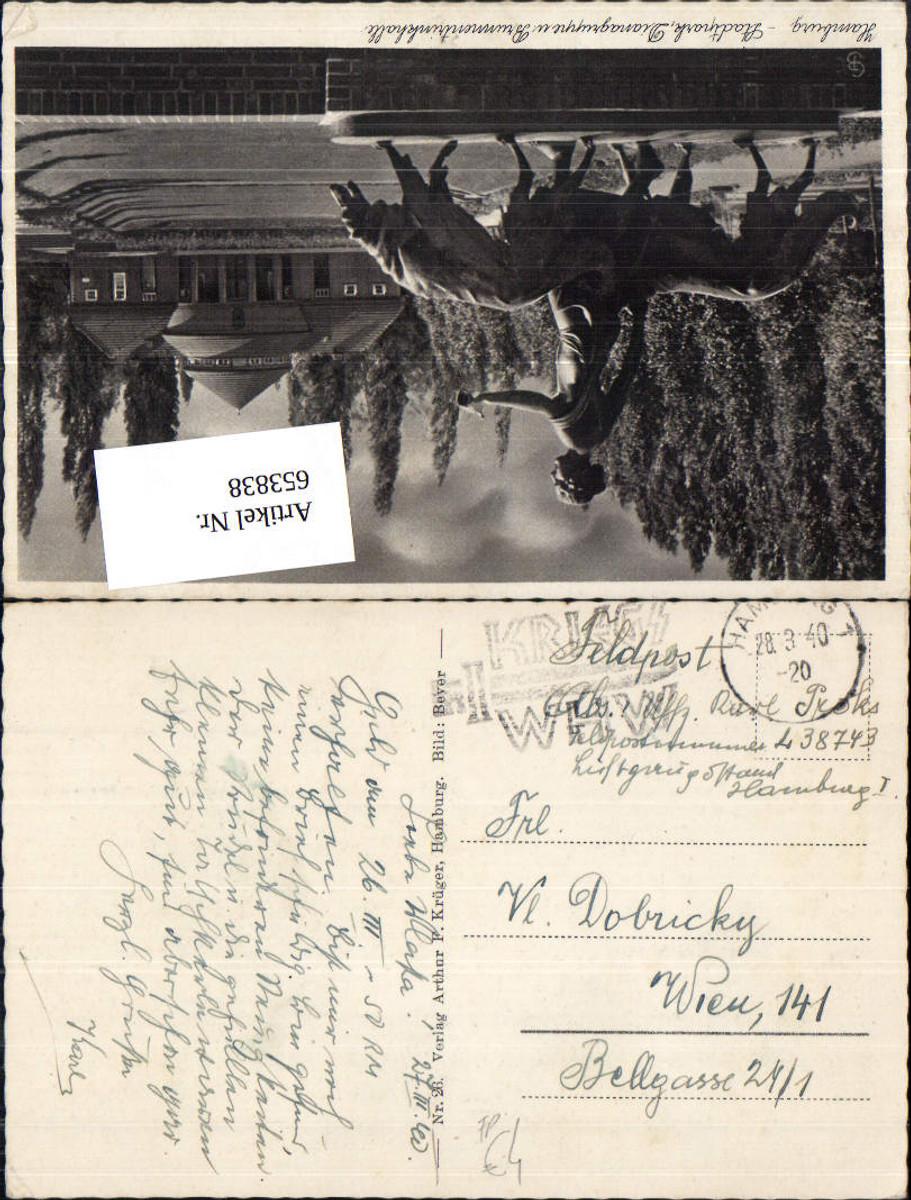 653838,WK 2 Feldpost Hamburg Luftgaupostamt L 38743 n. Wien günstig online kaufen
