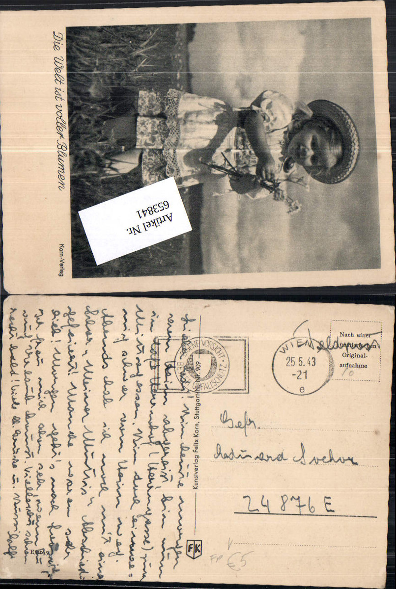 653841,WK 2 Feldpost an FP Nr. 24876 E Felix Korn Karte günstig online kaufen