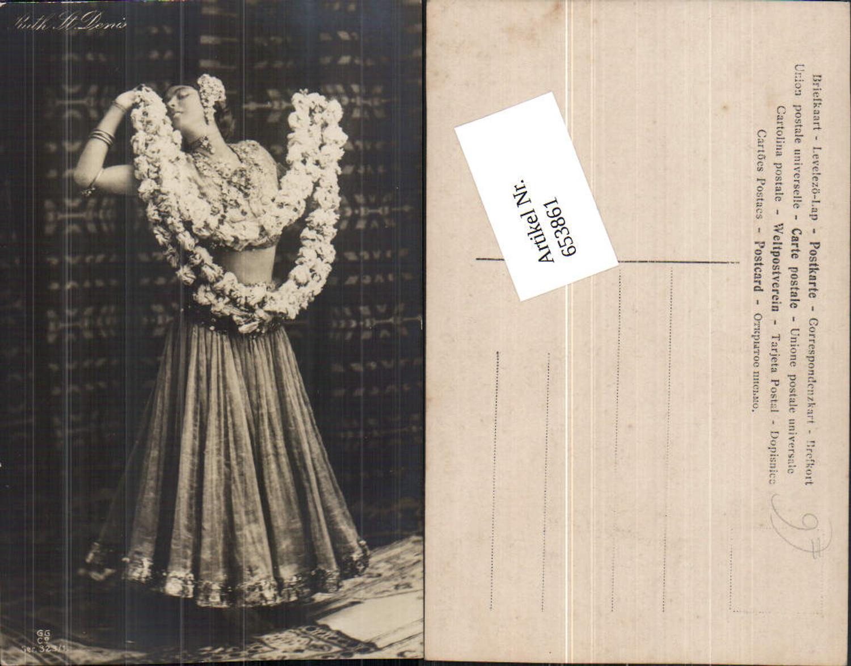 653861,Foto-AK Ruth St. Denis Kleid Schmuck Erotik pub GG & Co. günstig online kaufen