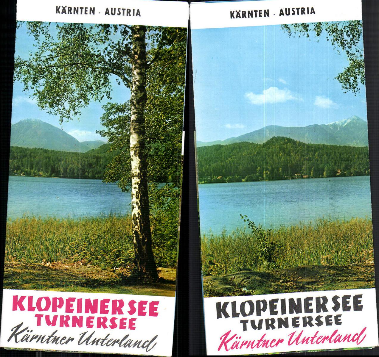 653889,Reklame Prospekt Klopeinersee Turnersee St. Kanzian Grabelsdorf günstig online kaufen