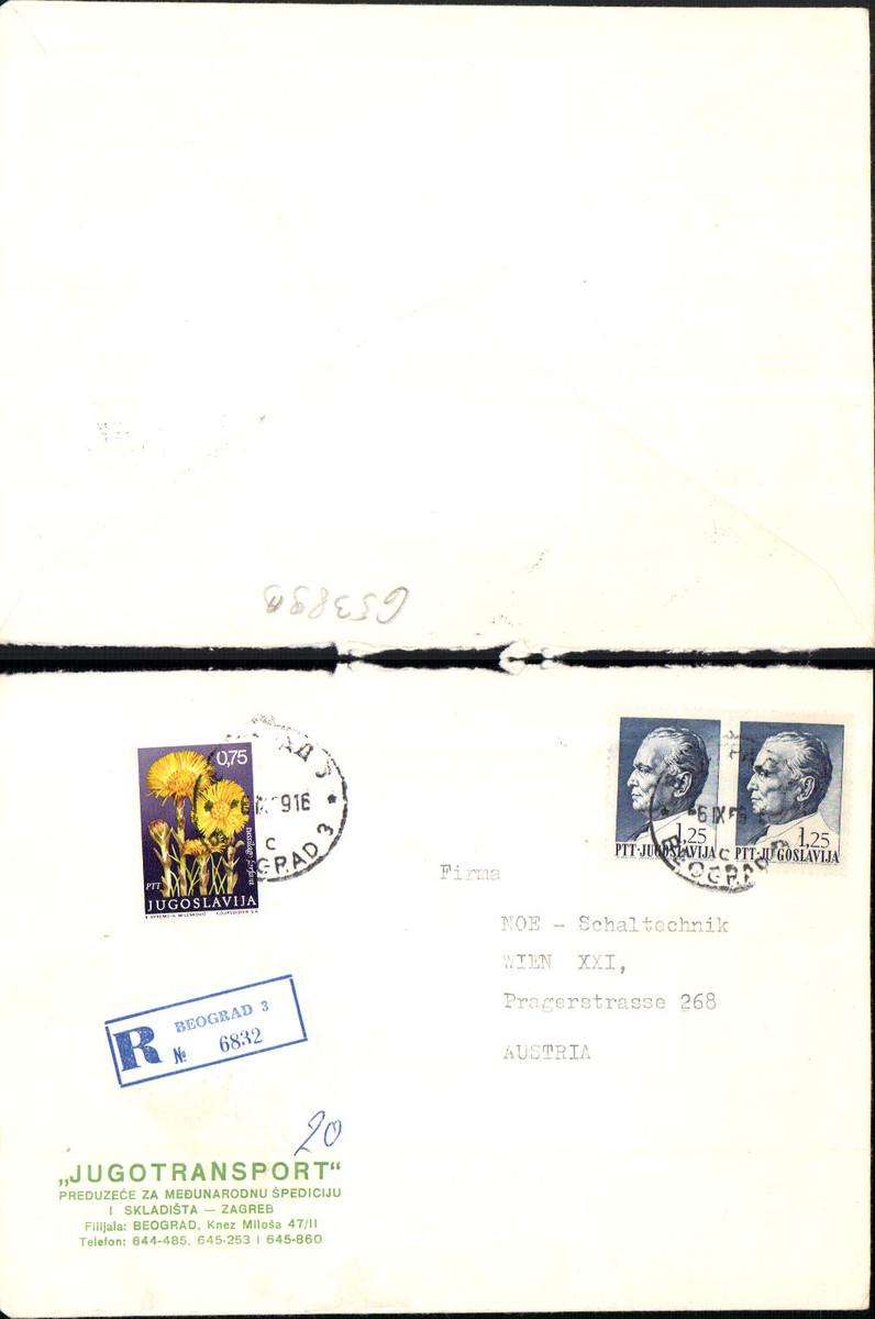 653893,Brief Beograd Belgrad n. Wien 21 Floridsdorf Reko Einschreiben Reco Beograd 6832 günstig online kaufen