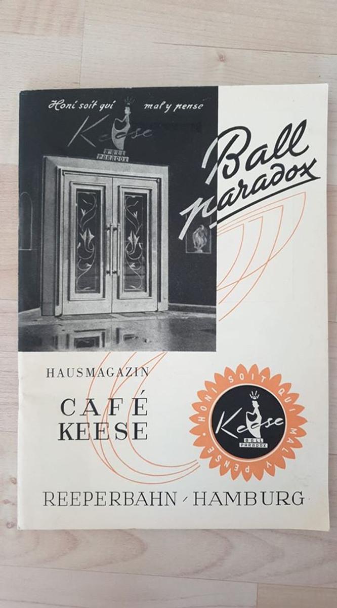 653912,Reklame Hausmagazin Cafe Keese Hamburg Reeperbahn St. Pauli Ball Paradox günstig online kaufen