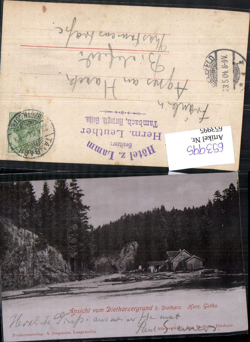 653995,Dietharzergrund b. Dietharz Gotha Herzogthum 1900 Tambach günstig online kaufen