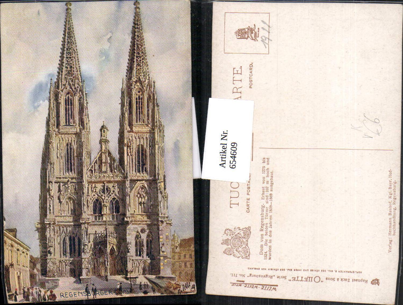 654609,Künstler Ak Regensburg Dom pub Raphael Tuck Sons 711 günstig online kaufen