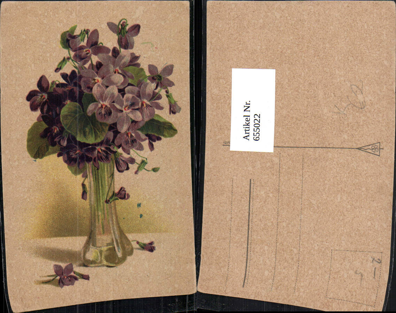 655022,Künstler Ak Vase mit Veilchen Blumen Vegetation günstig online kaufen