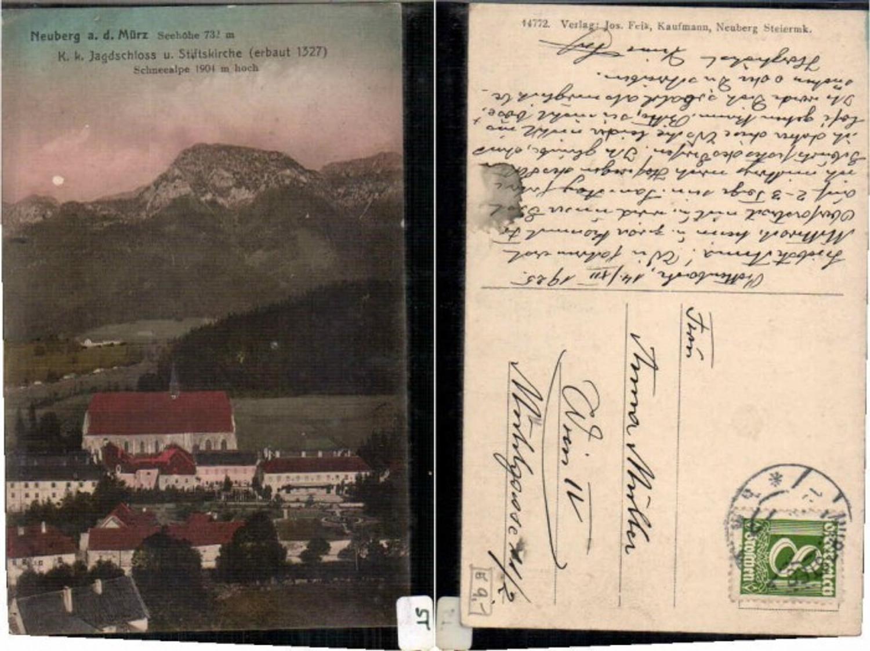 59482,Neuberg a.d. Mürz K.K. Jagdschloss 1910 günstig online kaufen