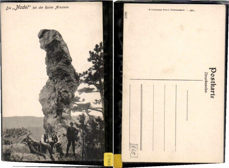 59552,Nadel bei Arnstein Peilstein  m. Kletterer Wanderer 1910 günstig online kaufen