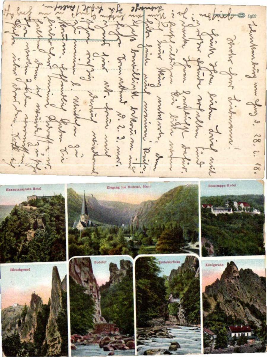 59619,Bodetal bei Thale Harz Hotel mehrbild 1915 günstig online kaufen