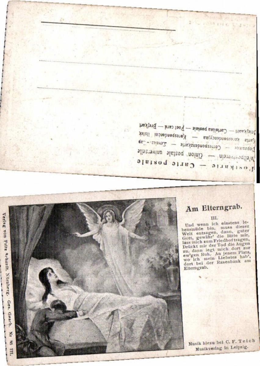59900,Kunstkarte Elterngrab Engel am Bett günstig online kaufen