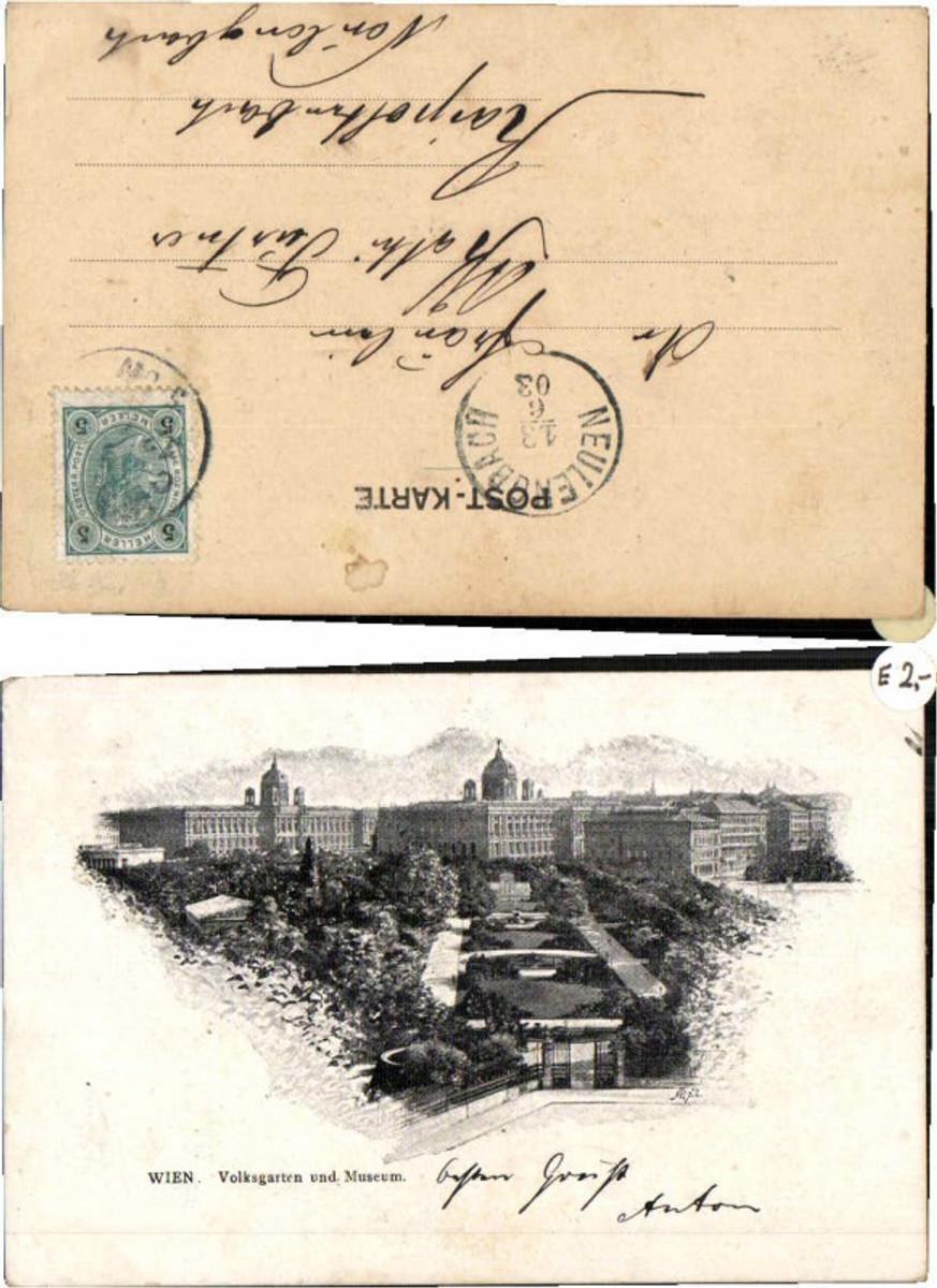 59973,Wien Volksgarten Partie um 1900 günstig online kaufen