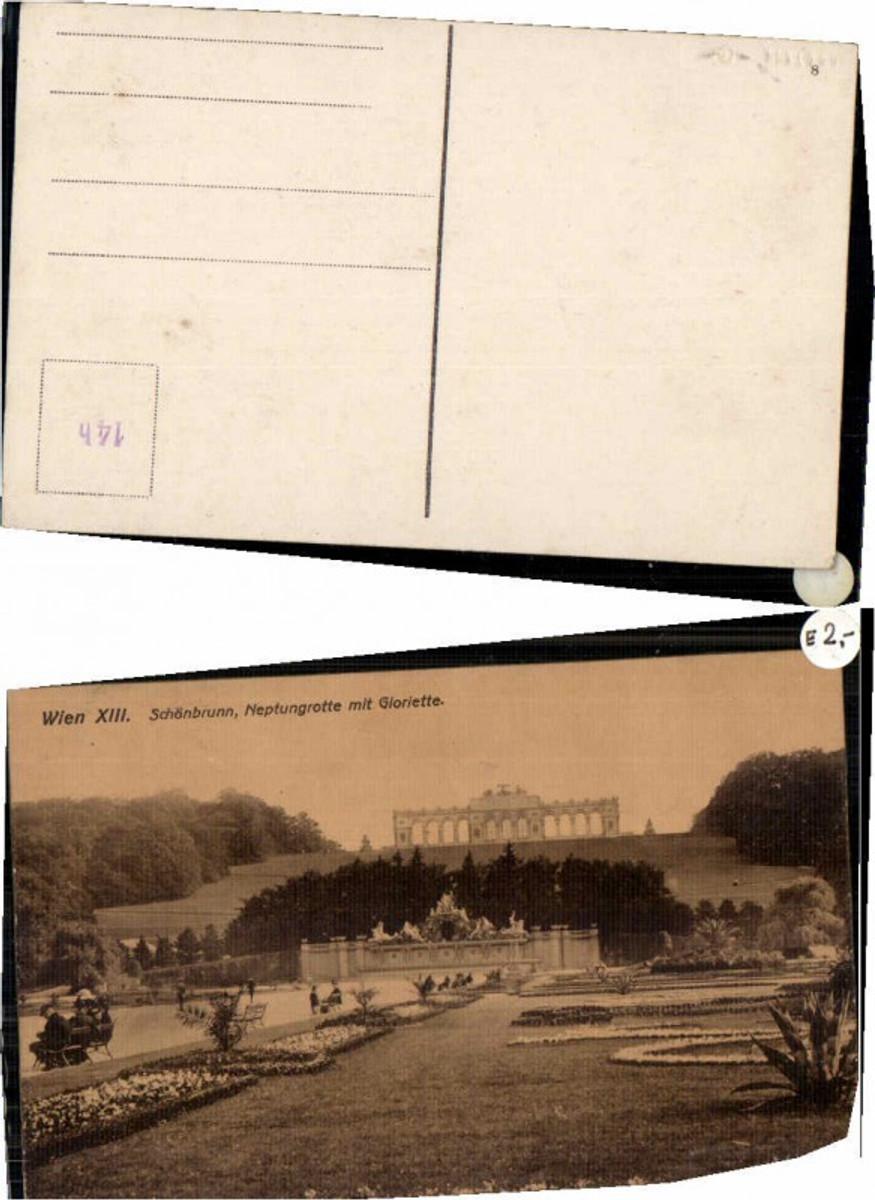 59990,Wien 13 Schönbrunn Neptungrotte mit Gloriette 1904 günstig online kaufen