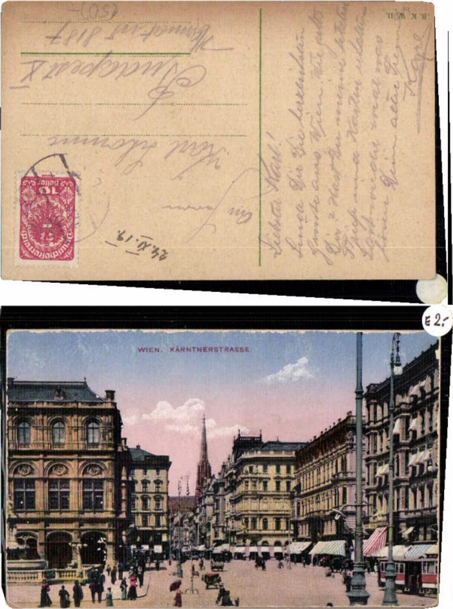 60024,Wien Kärntnerstrasse Strassenansicht 1915 günstig online kaufen