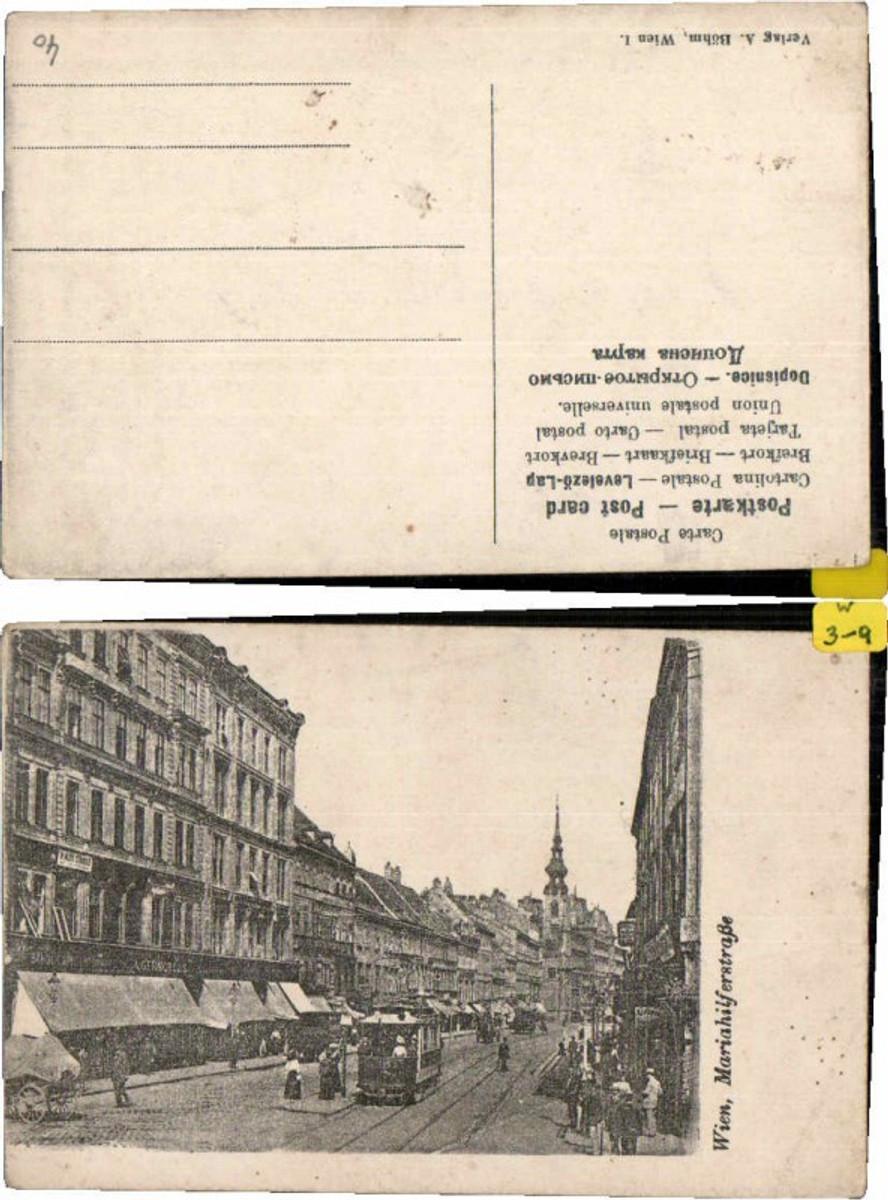 60195,Wien Mariahilferstrasse Strassenbahn 1905 günstig online kaufen