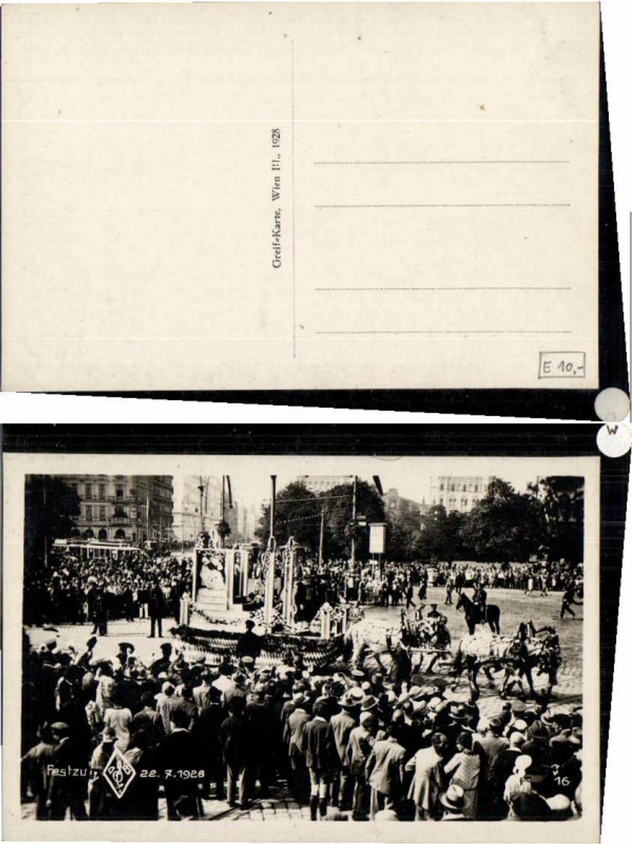 60416,Wien Festzug 22.7.1928 Strassenpartie günstig online kaufen