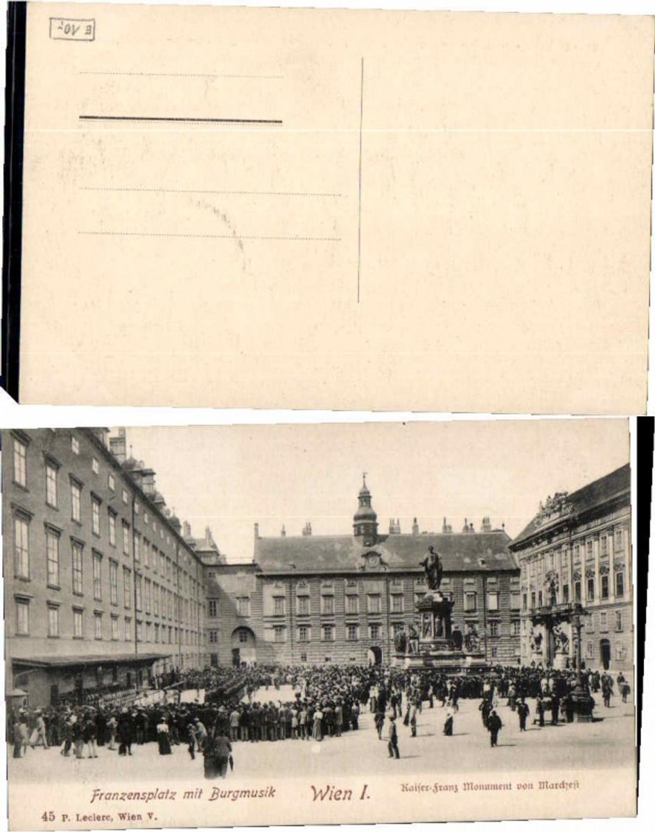 60436,Wien 1 Franzensplatz Burgmusik Kaiser Franz Josefs Monument  günstig online kaufen