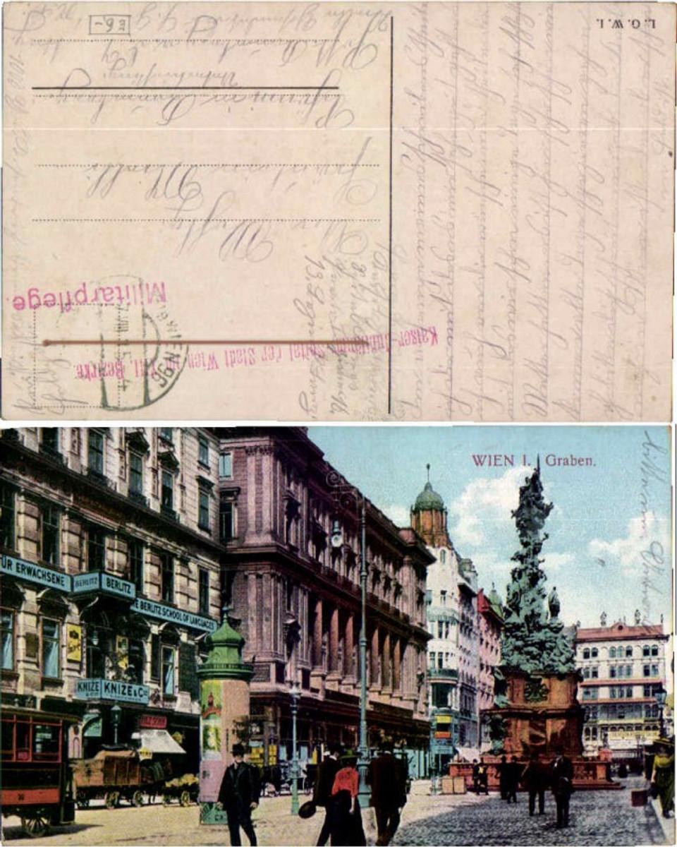 60488,Wien 1 Graben Strassenansicht Leute 1915 günstig online kaufen