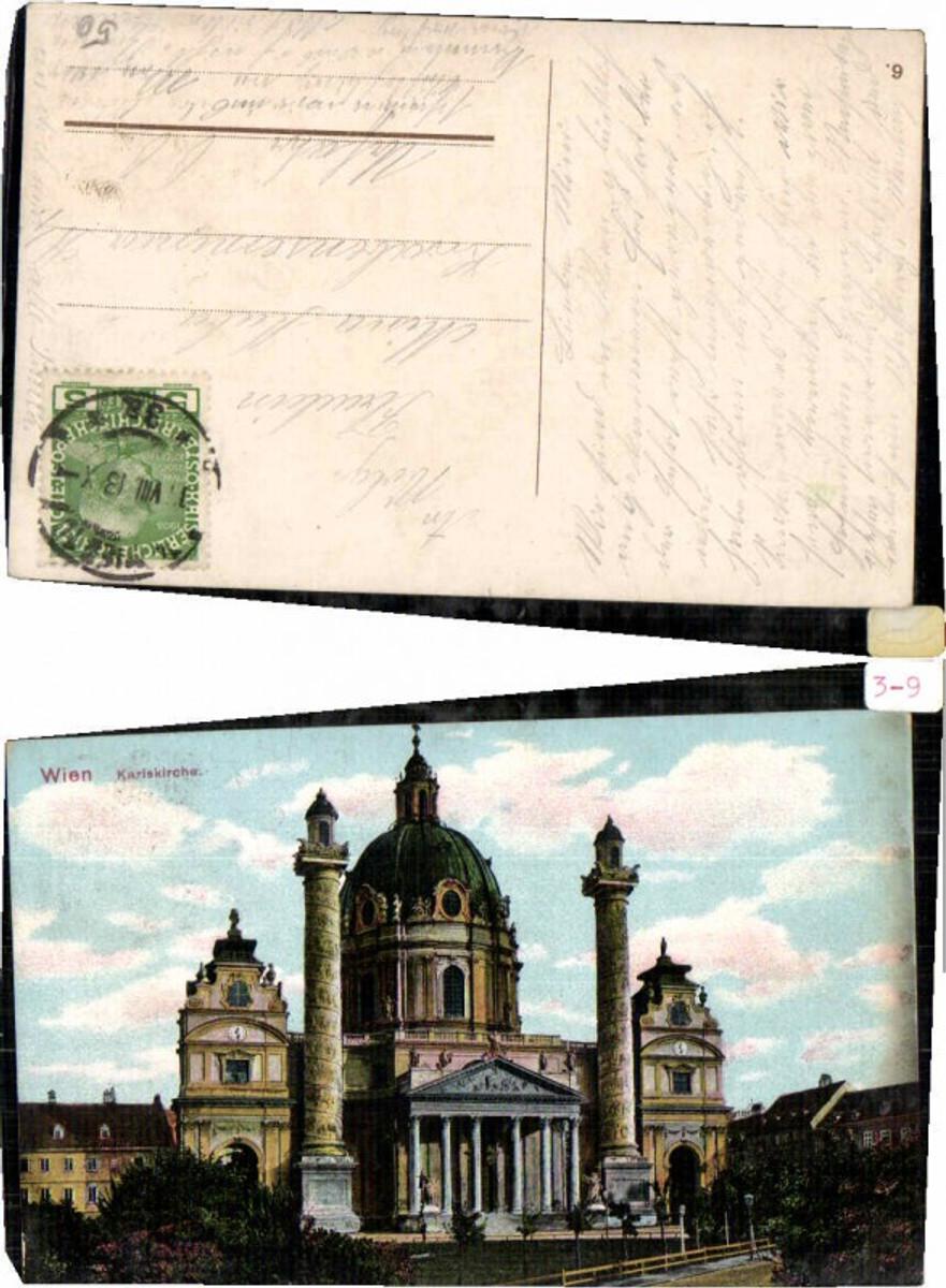 60574,Wien Karlskirche Partie um 1912 günstig online kaufen
