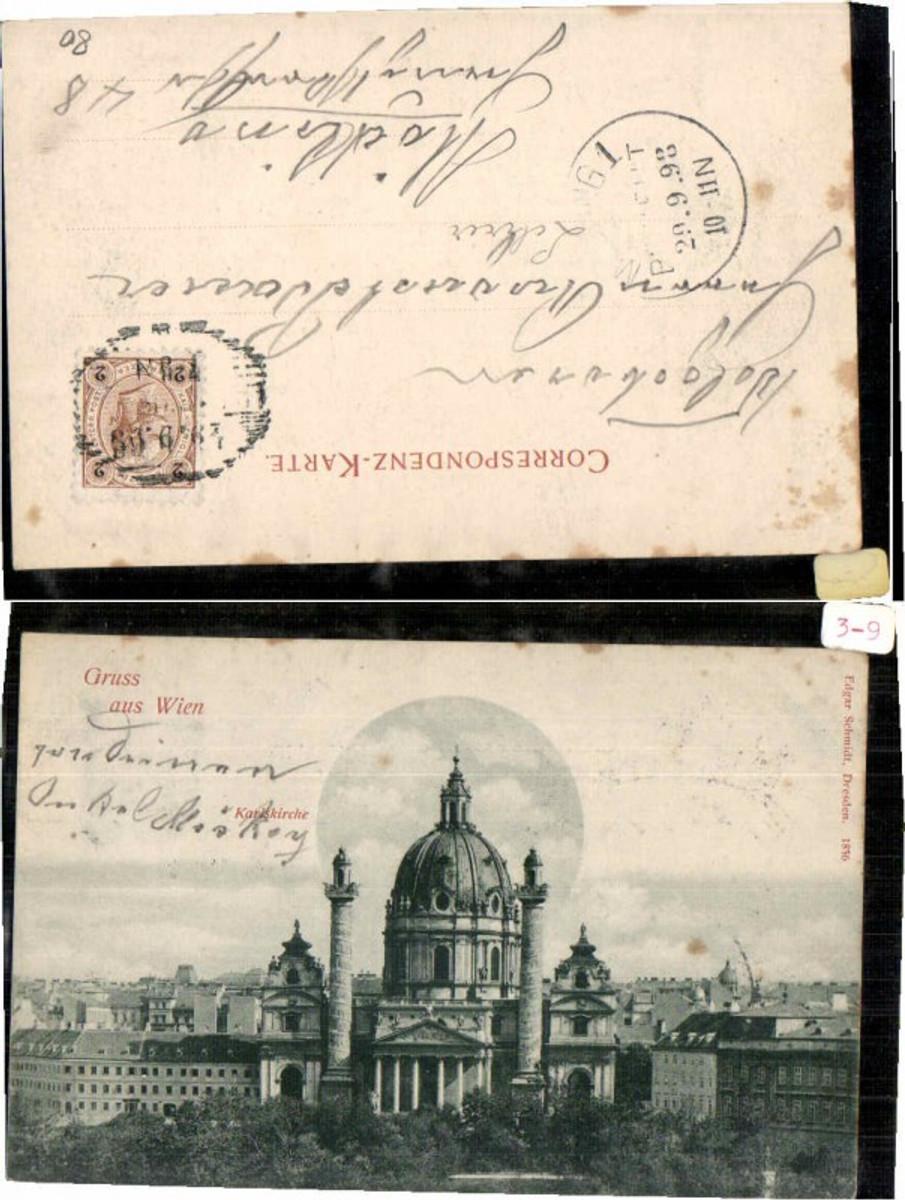 60599,Gruss aus Wien Karlskirche 1898 günstig online kaufen