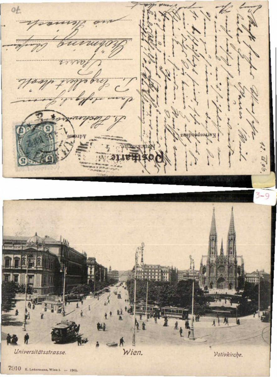 60620,Wien Universitätsstrasse Strassenbahn Votivkirche 1907 günstig online kaufen