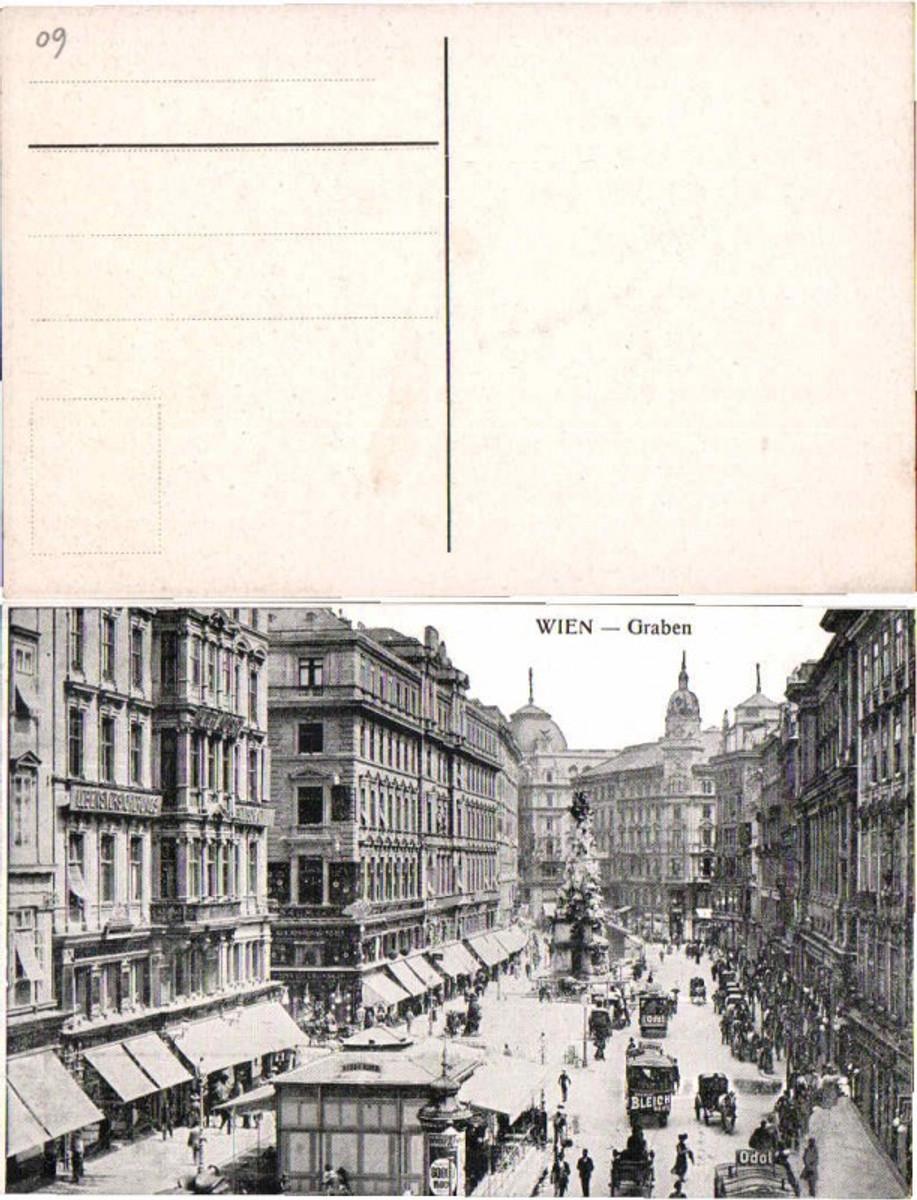 60734,Wien Graben Partie m. Kutschen 1910 günstig online kaufen