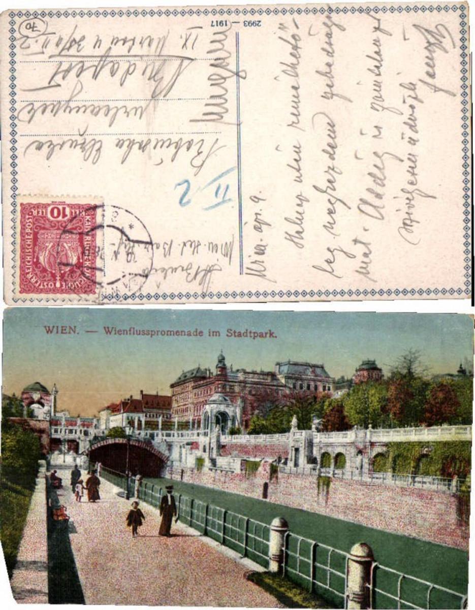 60750,Wien Wienflusspromenade im Stadtpark 1917 günstig online kaufen