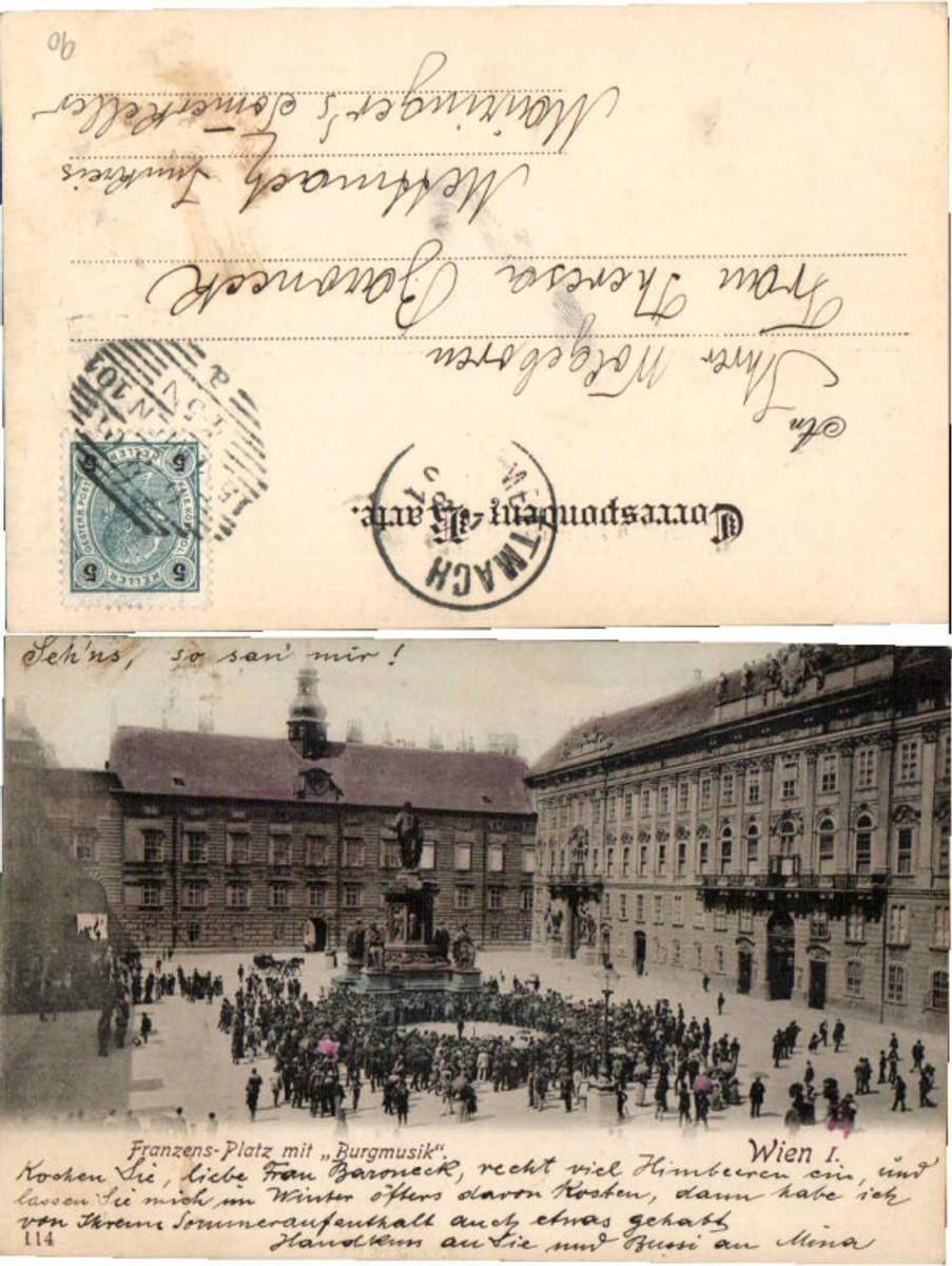 60775,Wien 1 Franzens Platz Burgmusik 1901 günstig online kaufen