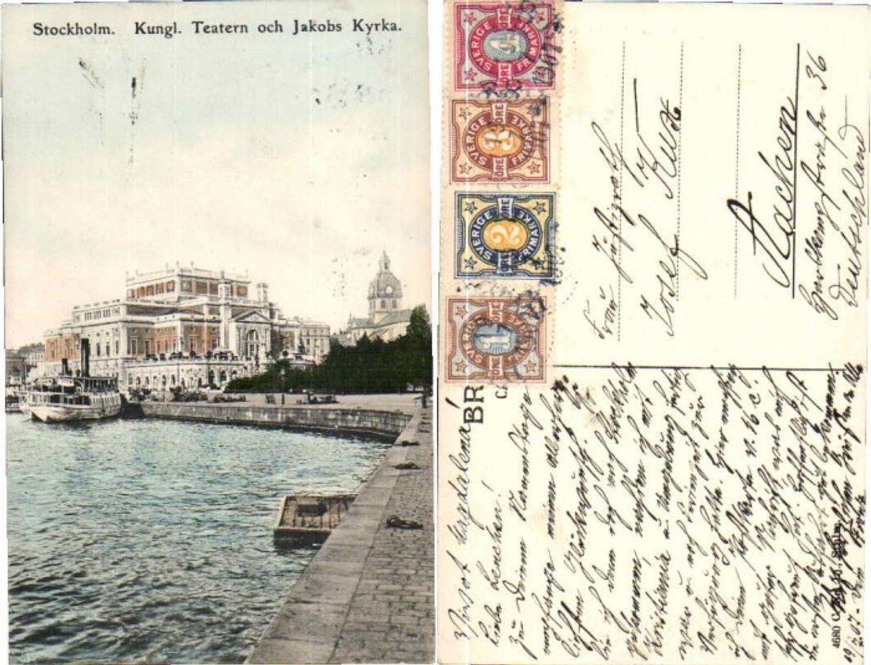 60842,Stockholm Teatern och Jakobs Kyrka Dampfer 1905 günstig online kaufen