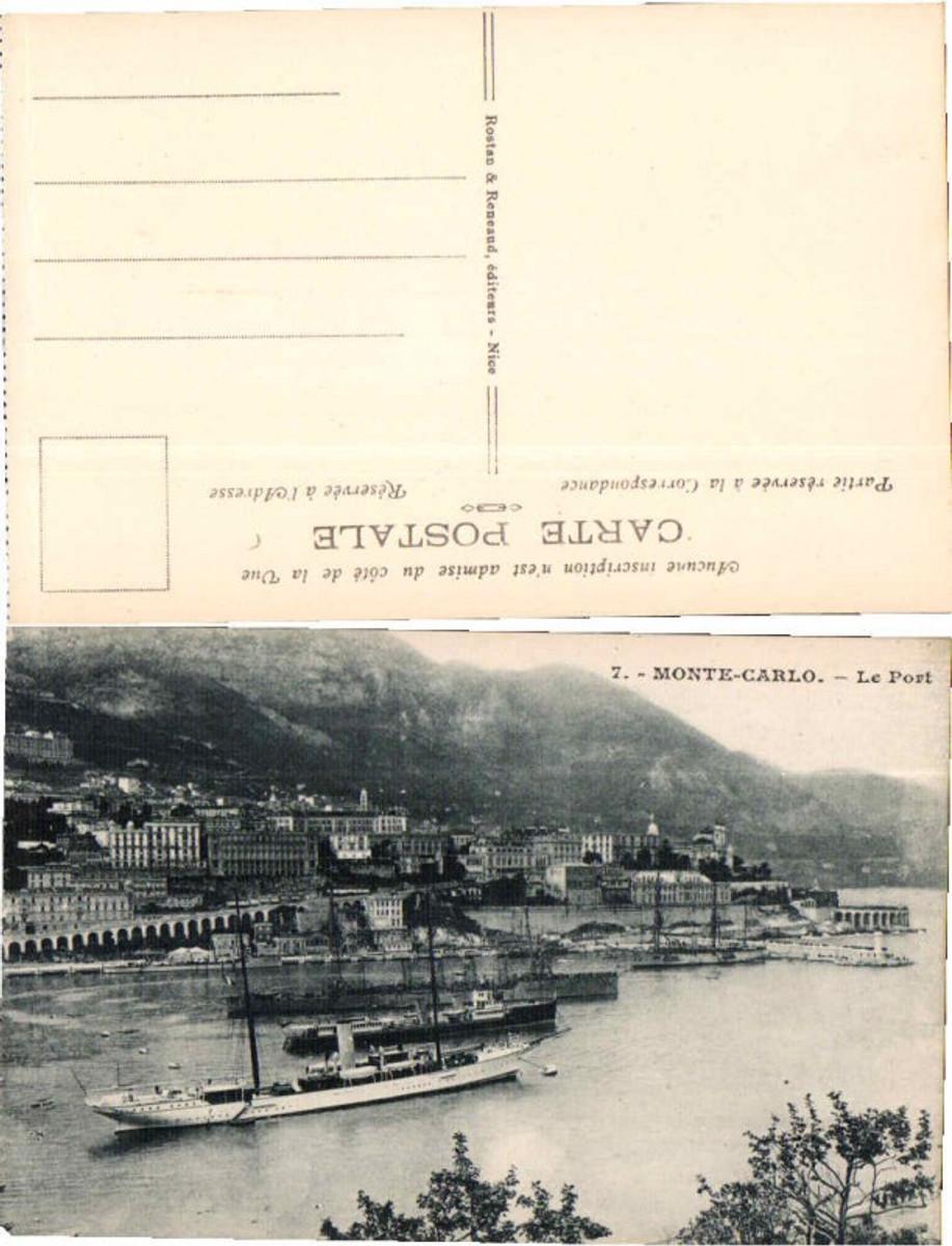 61034,Monte Carlo le Port mit Schiff im Hafen  günstig online kaufen
