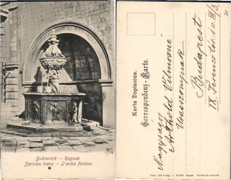 61128,Dubrovnik Ragusa Brunnen 1915 günstig online kaufen